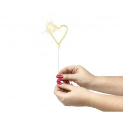 Artificii Sparkler Candle, model inima